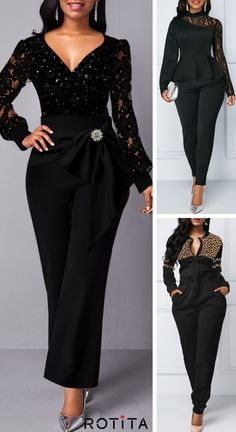 Jumpsuits&Rompers online for sale Classy Dress, Classy Outfits, African Fashion Dresses, Fashion Outfits, Velvet Dress Designs, Mode Chic, Wedding Dresses For Girls, Jumpsuits For Women, Pretty Dresses