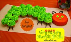 EASY Very Hungry Caterpillar Birthday Cake - Nut Free