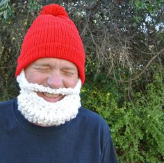 gnome beard hat. $42.00, via Etsy.