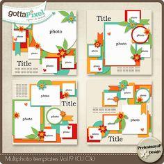 Multiphoto Templates Vol.19 (CU Ok) :: Gotta Grab It by PrelestnayaP Designs :: Gotta Pixel Digital Scrapbook Store