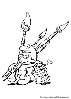 Smurfs and Gargamel coloring pages Quote Coloring Pages, Cool Coloring Pages, Free Printable Coloring Pages, Adult Coloring Pages, Coloring Pages For Kids, Coloring Books, Kids Coloring, Football Coloring Pages, Cartoon Art