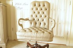 This took three coats of Annie Sloan Coco and three coats of wax.  Leather was originally brown.