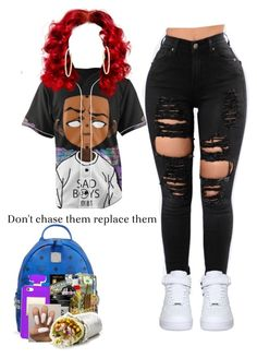 """""""❤️"""" by lanadabest on Polyvore featuring NIKE, MCM and Berry"""