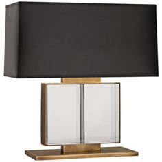Robert Abbey Sloan Wide Brass Table Lamp - #X4974 | LampsPlus.com