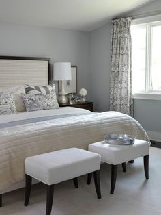 gray and beige master bedroom | Beau Lifestyle: Mostly whites, beige, grey´s for a Beach house