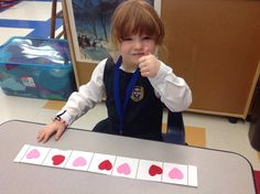 Math exploration Joan of Arc Academy  Kindergarten