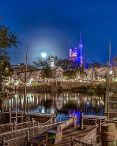 "1,381 Likes, 11 Comments -  Disney_nuts  (@disney_nuts) on Instagram: ""A #latergram from the super moon Wednesday night at The Magic Kingdom."""