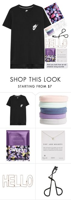 """""""42   you look how an ed sheeran song sounds"""" by takenwithpizza ❤ liked on Polyvore featuring NIKE, L. Erickson, Nannette de Gaspé, Dogeared, Graham & Brown and Topshop"""
