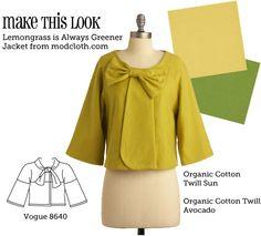 Make This Look: Lemongrass is Always Greener Jacket   The Sew Weekly - Sewing & Vintage Lifestyle