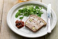 Chicken, Pork and Pistachio Terrine Recipe  3 large skinless, boneless chicken breasts, cut into long strips about 1/4 inch thick   Sea salt and freshly ground black pepper   15 very thin slices Parma ham   1 3/4 poundspork belly, finely minced   3 garlic cloves, crushed to a paste   1 large egg   1 teaspoonChinese five-spice powder   2 1/2 tablespoons brandy   2 handfulspistachios  #LeitesCulinaria and #LCHolidayTable