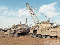 May 2012 Military Power Tank Tow Truck Photo 1