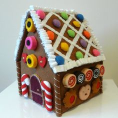 My first gingerbread house, made entirely from felt