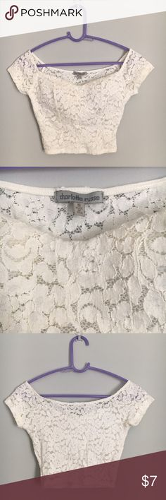Charlotte Russe Crop Top Never worn. Great condition, size small. Comes with a built in bra! Charlotte Russe Tops Crop Tops