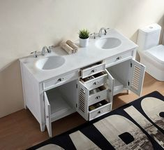 Modern double wood vanity with make up area Porcelain Sink, Ceramic Sink, Wood Vanity, Vanity Set, Home Design, Bathroom Styling, Bathroom Ideas, Florida Style, Undermount Sink