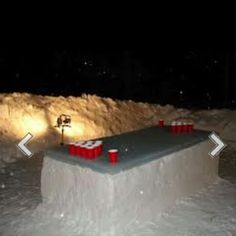 What men do with snow.