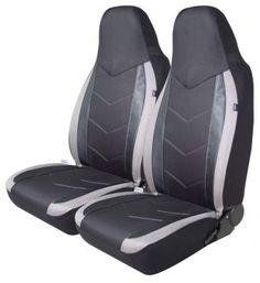 Car seat covers for front seats fit Citroen Nemo grey pair #2