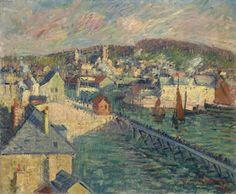 Gustave Loiseau - Le port de Fécamp, 1921, oil on canvas