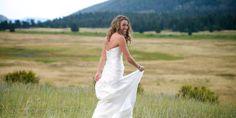 Della Terra Mountain Chateau Summer Wedding Bride Walking