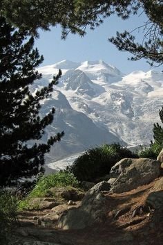 Piz Palü near Pontresina. Engadin, canton of Graubünden. Switzerland.