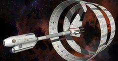 "Star Trek, Enterprise, XCV-330, Declaration Class, ""Ring Ship,"" Mesh and Render by WideFoot"