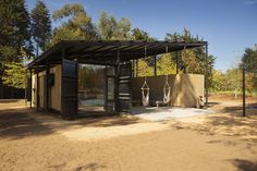Gallery of Container House / Plannea Arquitectura + Constanza DomÍnguez C. - 6 Container Architecture, Container Buildings, Sustainable Architecture, Shipping Container Design, Cargo Container Homes, Container House Design, Shipping Containers, Hill Country Homes, Chile