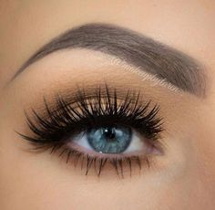 Neutral eye makeup and long lashes #eyes #eye #makeup #lashes