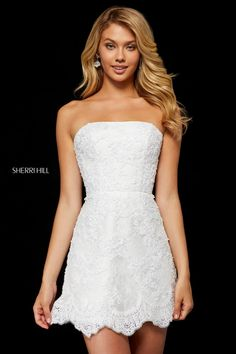 926585c9da Sherri Hill 52401 Laceup Back Lace Short Dress