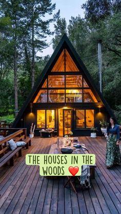 A Frame House Plans, A Frame Cabin, Small House Plans, A Frame Homes, Best Tiny House, Tiny House Cabin, Tiny House Design, Cabin Homes, A House