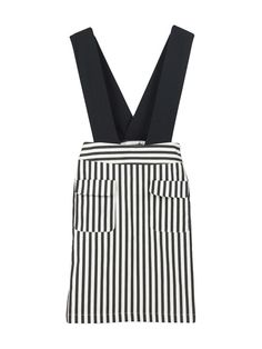 Black Stripe Skirt With Strap