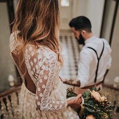 My love ✨ Still dreaming of this pretty dotted lace @immaclenovias open back dress. Beautiful capture by @hugocoelhofotografia ✨ Tag someone you know who would love this! . .