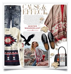 """Winter Wanderlust with American Eagle: Contest Entry"" by ewa-naukowicz-wojcik ❤ liked on Polyvore featuring American Eagle Outfitters, Envi, FitFlop and aeostyle"