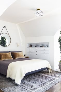 #bedroom #slopedceiling | See more of Geremia Design's Cumberland Street Residence on 1stdibs
