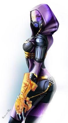 Красивые картинки Арт Sci-fi Mass Effect Tali Quarian