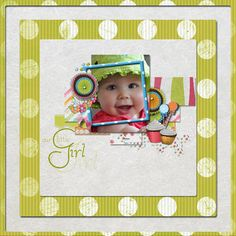 A layout I did using Sweet Treat Page Kit by Lauren Bavin and Daughter Word Art by Tina Chambers, all from Digital Scrapbook Place