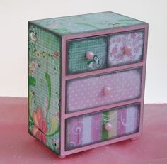 Jewelry Box Shabby Pink Chic Chest Personalized by NandJDesigns, $37.99