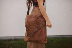 Distressed Leather Book Bag DIY