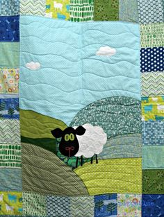 Sheep quilt. I love this little guy!
