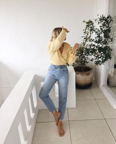 wrap shirt and denim outfit idea for women