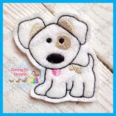 Puppy Dog Felt Feltie Embroidery Design by MommaMC on Etsy (Craft Supplies & Tools, Patterns & Tutorials, Sewing & Needlecraft, Embroidery, machine embroidery, felt, feltie, felty, pattern, puppy, dog)