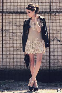 FashionCoolture 26.11.2012 Romwe Choies SheInside Kafé lace nude jacket rivets studded jaqueta de couro Asos (1)