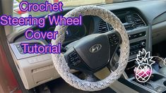 Crochet Wheel - Wheel Cover - How To Crochet Crochet Steering Wheel Cover - Crochet Car Accessories Please leave me feed back on what you think! Crochet Car, Car Steering Wheel Cover, Crochet Patterns, Crochet Ideas, Car Accessories, Crochet Projects, Baby Shoes, Knit Stitches, Youtube