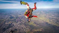My coach Pedó, metendo um head down, freefly. #skydive #skydiving #freefly #headdown  #gopro