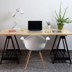 15 lindas ideias de mesas de cavaletes para você se inspirar