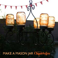 Mason Jar Lamps, Lights and other Cool Projects