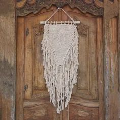 Buy Cotton wall hanging, 'Glimpse of Singaraja' today. Shop unique, award-winning Artisan treasures by UNICEF Market. Each original piece goes through a certification process to guarantee best value and premium quality. Macrame Thread, Charity Gifts, Boho Wall Hanging, Diamond Pattern, Handicraft, Decorative Items, Dangles, Artisan, Bali