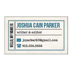 Vintage Type Business Cards | Paper Source