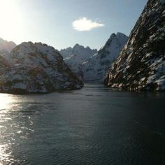 The Trollfjord is a beautiful fjord only visited by Hurtigruten ferrys