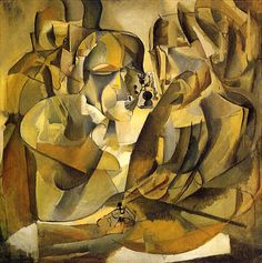 Marcel Duchamp  American, born France, 1887-1968  Portrait of Chess Player  (Portrait de joueurs d'échecs), 1911   oil, 39 3/4 x 39 3/4.