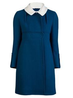 farfetch CARVEN - Wool drape coat.
