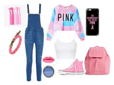 """""""Bubblegum"""" by b-mansour ❤ liked on Polyvore featuring Chicnova Fashion, Rebecca Minkoff, Topshop, Converse, Popband, L4K3, Vera Bradley, Max Factor and Casetify"""